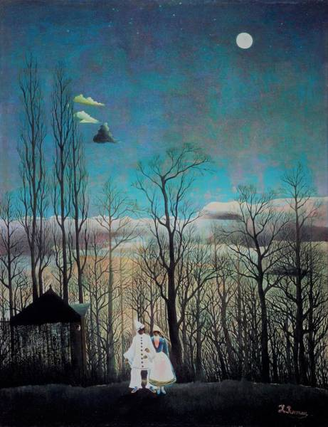 Carnival Painting - Carnival Evening - Original Bluecolor Edition by Henri Rousseau