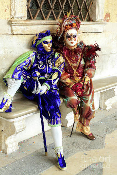 Photograph - Carnival Memories In Venice by John Rizzuto