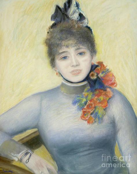 Wall Art - Pastel - Caroline Remy  Severine by Pierre Auguste Renoir