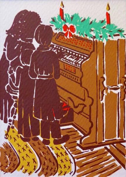 Olden Mixed Media - Carols At The Old Organ by Janice Petrella-Walsh