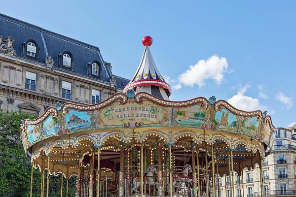 Wall Art - Photograph - Carousel At The Hotel De Ville - Paris, France by Melanie Alexandra Price