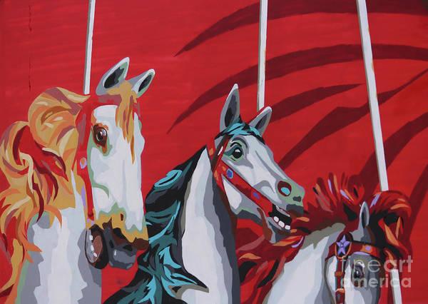 Wall Art - Photograph - Carousel Mural Morro Jable Spain by Eddie Barron