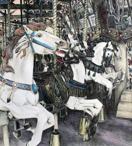 Carousel Mixed Media - Carousel Of Dreams by Grace Xiao