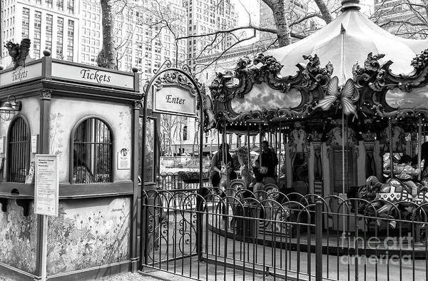 Photograph - Carousel Tickets New York City by John Rizzuto