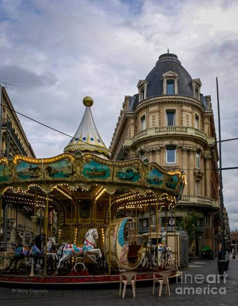 Photograph - Carousel Toulouse  by Mary Capriole