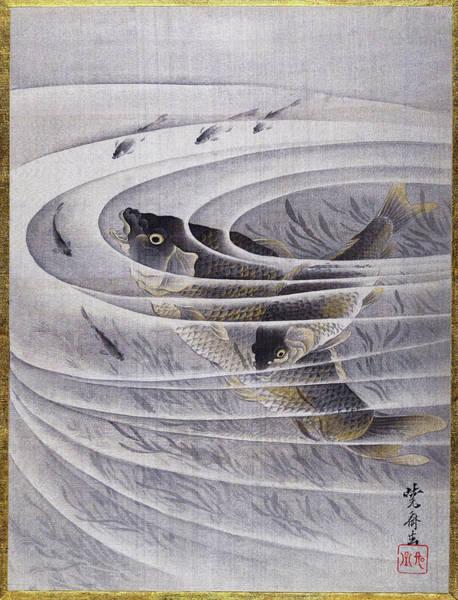 Wall Art - Painting - Carps - Digital Remastered Edition by Kawanabe Kyosai
