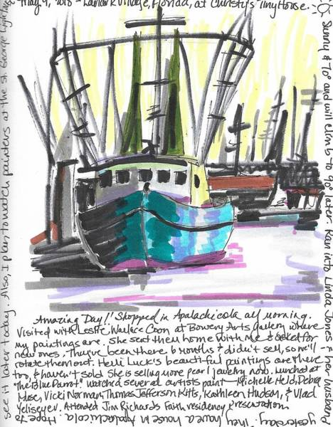 Wall Art - Painting - Carrabelle Boats by Susan Elizabeth Jones
