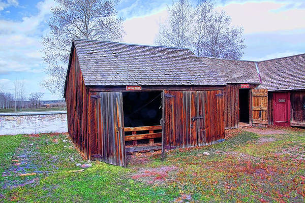 Camera Raw Photograph - Carriage House, Fort Bridger by Brenton Cooper