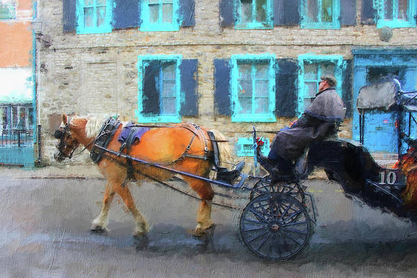Photograph - Old Quebec Carriage Ride 0633 by Carlos Diaz