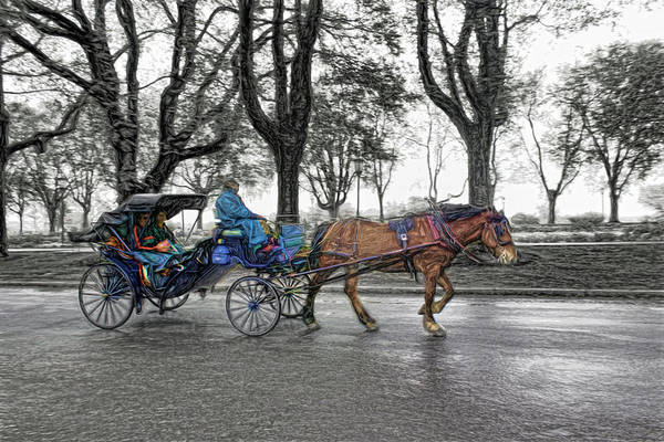 Photograph - Carriage Rides Series 0610 by Carlos Diaz
