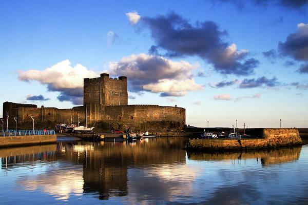 Waters Edge Wall Art - Photograph - Carrickfergus Castle And Harbour by The Edge Digital Photography