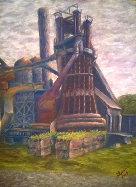 Wall Art - Pastel - Carrie Furnace Pittsburgh by Joann Renner