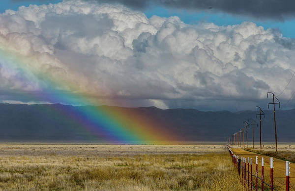 Photograph - Carrizo Rainbow And Fence by Matthew Irvin