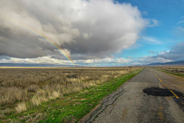 Photograph - Carrizo Rainbow And Road by Matthew Irvin