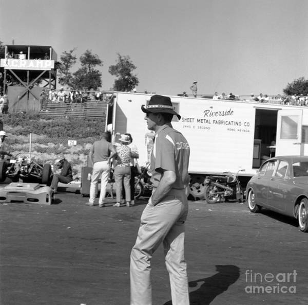 Wall Art - Photograph - Carrol Shelby In Pits by Robert K Blaisdell