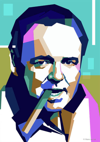 Wall Art - Digital Art - Carroll O'connor by Stars on Art