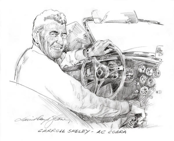 Painting - Carroll Shelby, Ac Cobra by David Lloyd Glover