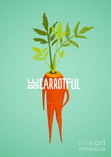 Raw Wall Art - Digital Art - Carrot Diet Colorful Inspirational by Popmarleo