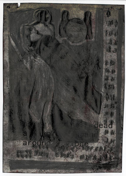 Mixed Media - Carrying Their Dead by Artist Dot