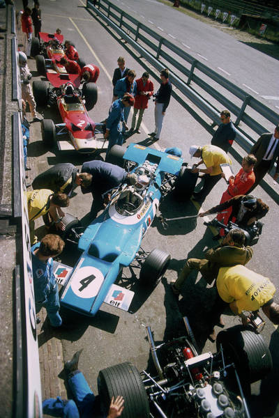 Wall Art - Photograph - Cars At The British Grand Prix by Heritage Images