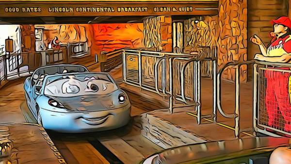 Digital Art - Carsland Comes To Life by Barkley Simpson