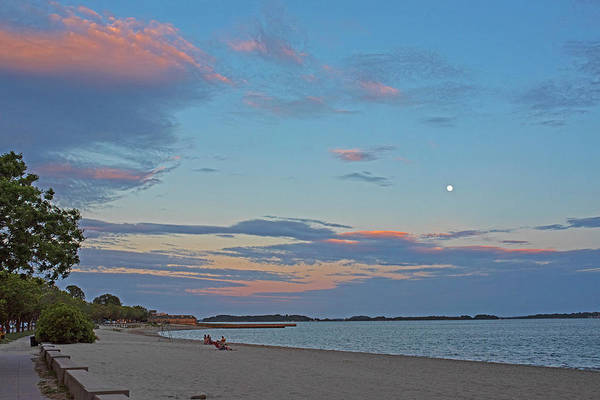 Photograph - Carson Beach Sunset Boston Ma Castle Island Red Sky by Toby McGuire