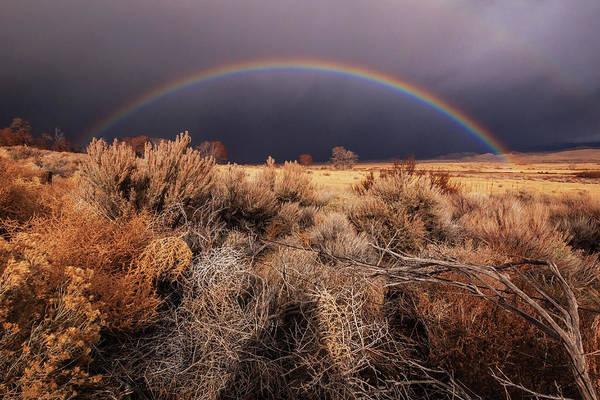 Wall Art - Photograph - Carson Valley Christmas Rainbow by Mike Herron