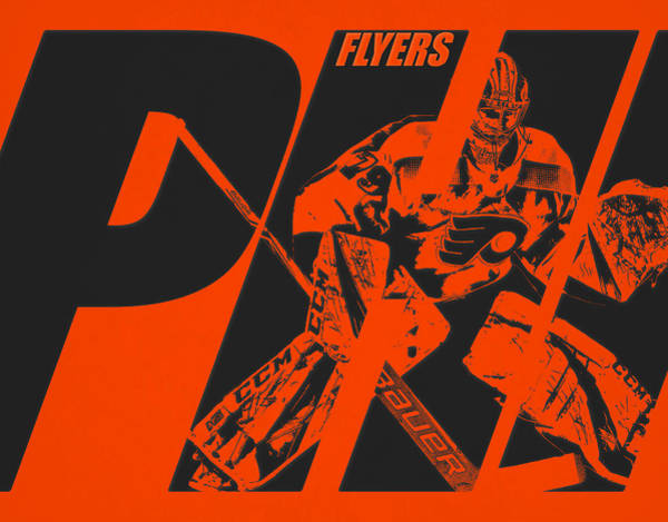Wall Art - Mixed Media - Carter Hart Philadelphia Flyers City Art by Joe Hamilton