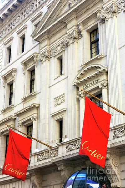 Photograph - Cartier Flags New York City by John Rizzuto