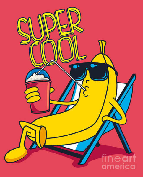 Medicine Digital Art - Cartoon Banana Vector Character by Braingraph