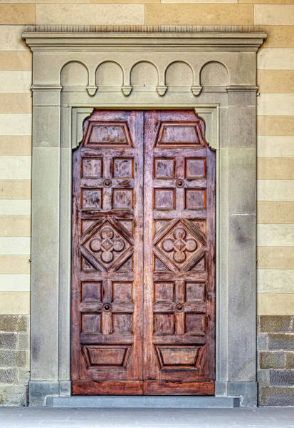 Photograph - Carved Door Of Cortona by David Letts