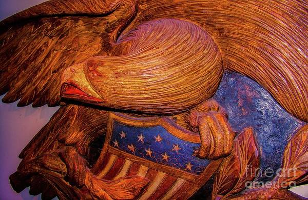 Wall Art - Photograph - Carved Wood - Eagle by D Davila