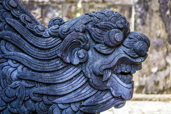 Photograph - Carving Royal Tomb Hue by Gary Gillette