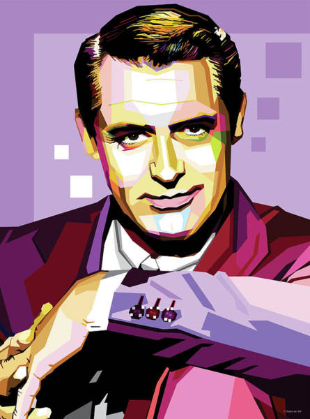 Wall Art - Digital Art - Cary Grant Pop Art by Stars on Art