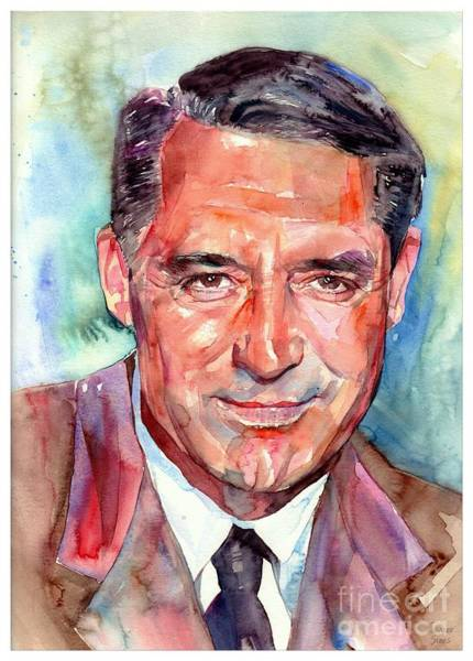 Wall Art - Painting - Cary Grant Portrait by Suzann Sines