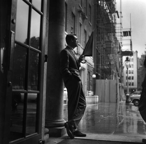 Movie Photograph - Cary In Rain by Express