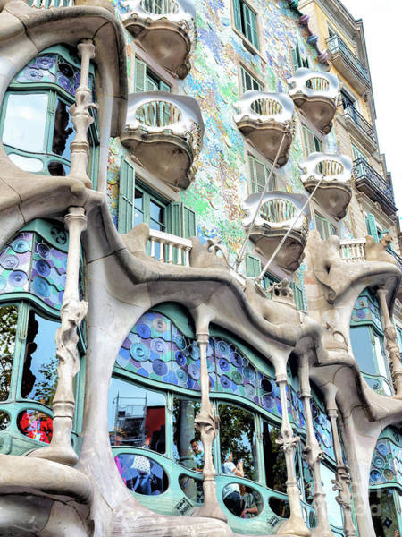 Photograph - Casa Batllo Angles In Barcelona by John Rizzuto