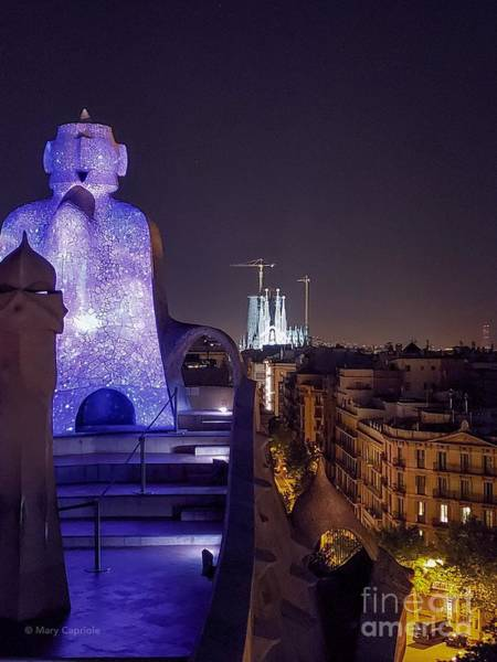 Photograph - casa Mila roof top in color by Mary Capriole