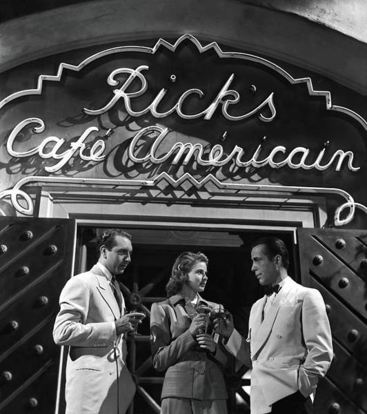 Wall Art - Photograph - Casablanca Movie Still 1943 by Daniel Hagerman