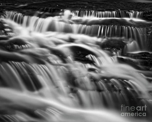 Photograph - Cascade 5 Bw by Patrick M Lynch