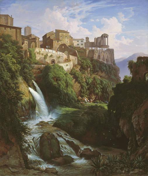 Wall Art - Painting - Cascade And Sibyl Temple At Tivoli by Albert Zamett