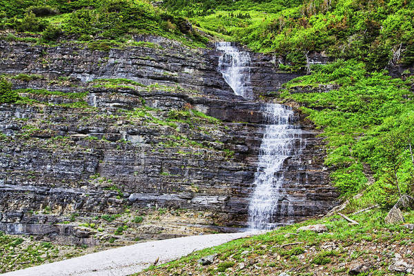 Photograph - Cascade In Montana Glacier National Park by Tatiana Travelways
