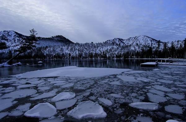 Photograph - Cascade Twilight Ice Flow by Sean Sarsfield