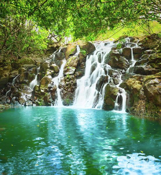 Wall Art - Photograph - Cascade Vacoas Waterfall. Mauritius.  by MotHaiBaPhoto Prints