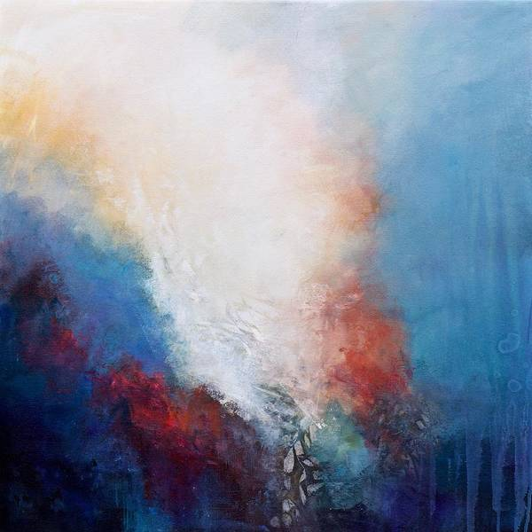 Wall Art - Painting - Cascading Light  by Karen Hale