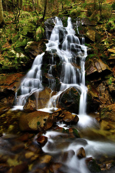 Photograph - Cascading Water by Ivan Slosar