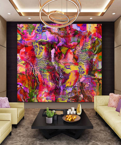 Wall Art - Digital Art - Cascading Waterfall Mist--artwork In Situ by Grace Iradian