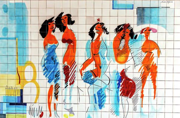 Wall Art - Photograph - Cascais Abstract Tile Art Number Four by John Rizzuto