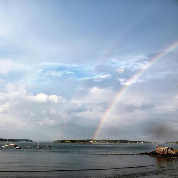 Casco Bay Photograph - Casco Bay Rainbow by Life With An Edge