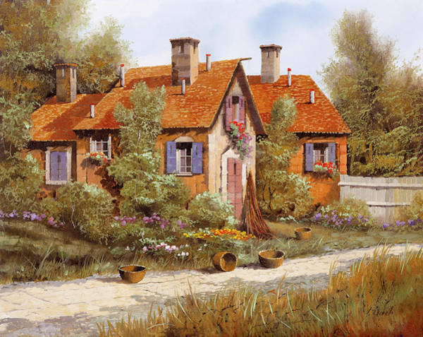Wall Art - Painting - Case Tra Gli Alberi by Guido Borelli